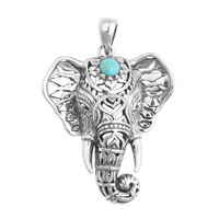 Third Eye Decorated Elephant Necklace