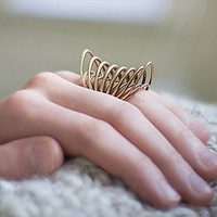 3D-Printed Raw Bronze Statement Ring