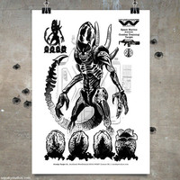 Xenomorph Combat Target. Limited Edition Aliens Poster