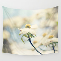 Love, the Dogwood Wall Tapestry by Erin Johnson