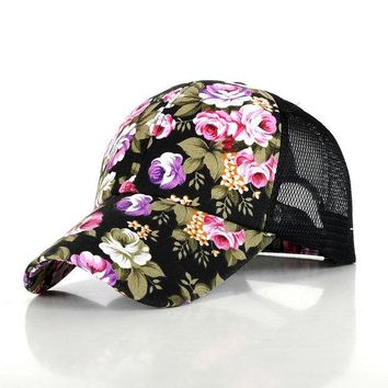 LMFUS4 2016 hot sale female floral baseball hat for women spring and summer casual cap girls  sun snapback hats for sport l leisure