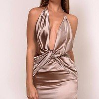 Maureena Satin Dress