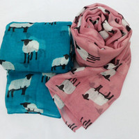 "Quirky ""Sheep"" Soft Over Sized Scarf/Shawl."