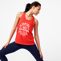 Racerback tank top with French logo