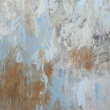 """""""Time Passes"""" by Britt Bair, Acrylic and Mixed Media on Canvas"""