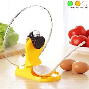 Folding Based Ladle Pot Rack Plastic Lid Pan Holder Spoon Rest Creative Cooking Pots Stand Kitchen Utensils Hogard