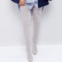 ASOS KENDRA Point Over The Knee Boots at asos.com