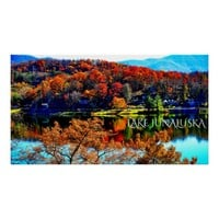 50 X 27 LAKE JUNALUSKA PREMIUM CANVAS GLOSS POSTER