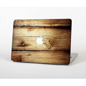 The Old Bolted Wooden Planks Skin Set for the Apple MacBook Pro 15""