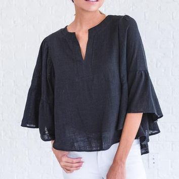 Over the Moon Black Top