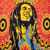 Bob Marley Tapestry, Indian Hippie Wall Hanging , Bohemian Bedspread, Mandala Cotton Dorm Decor Beach Blanket