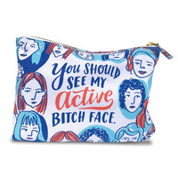 Active Bitch Face Canvas Pouch