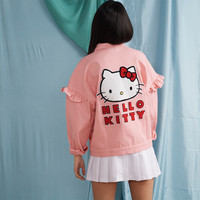 Hello Kitty x Lazy Oaf Frilly Denim Jacket - Everything - Categories - Womens