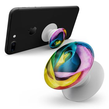 Rainbow Dyed Rose V3 - Smartphone Extendable Grip & Stand Skin Kit