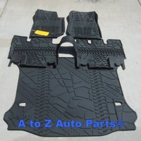 NEW 2014 Jeep Wrangler JK 4-DOOR Slush Style Floor Mats & Cargo Mat COMBO SET,OE