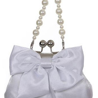 Adorable Satin Purse with Huge Bow