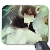 Cool bloomed White flower texture Mouse Pad