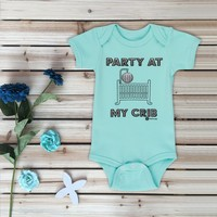 """Party at My Crib"" Baby Bodysuit"
