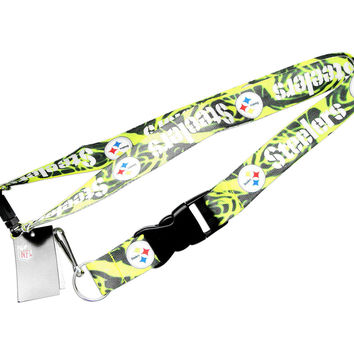 Pittsburgh Steelers NFL Clip Lanyard Keychain Id Ticket Holder - Camo