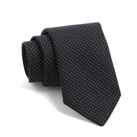 Crosby Silk Pindot Tie in Black