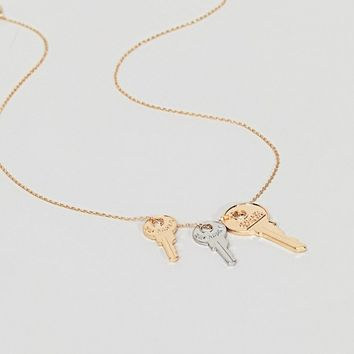 Steve Madden Gold Key Necklace at asos.com
