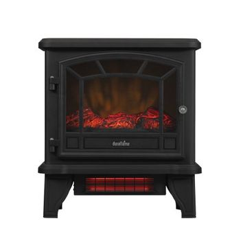 Duraflame Freestanding Infrared Quartz Fireplace Stove, Black - Walmart.com