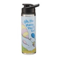 """""""Dr. Seuss? """"Oh! The Places You'll Go!"""" Stainless Steel Water Bottle, 25-Ounce, Multi-colored"""""""