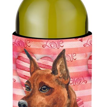 Miniature Pinscher Love Wine Bottle Beverge Insulator Hugger BB9743LITERK