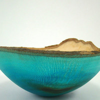 Beautiful Blue II Sycamore Bowlreserved for by makye77 on Etsy