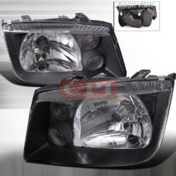 VOLKSWAGEN 99-04 JETTA EURO HEADLIGHT BLACK HOUSING performance conversion kit 1 SET
