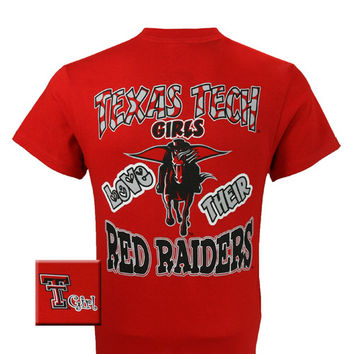 New Texas Tech Girls Love Their Raiders Girlie Bright T Shirt