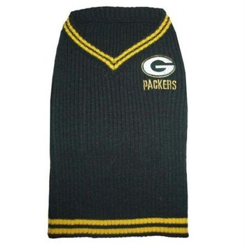 DCCKOP9 Green Bay Packers Dog Sweater