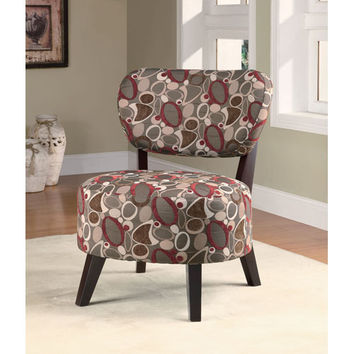Coaster Furniture 900425 Oblong Print Accent Chair with Padded Seat