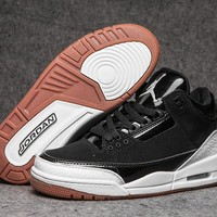 Cheap Nike Air Jordan 3 Retro Men Shoes Black