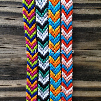 Colorful Chevron Friendship Bracelets - NEW Colors