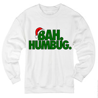 BAH HUMBUG sweatshirt shirt. Christmas sweater . Grinch shirt . Holiday shirt . Funny shirt . Happy Holidays . Merry Christmas