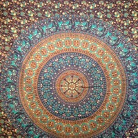Elephant Mandala Tapestry Blue 1 - Mellow Mood