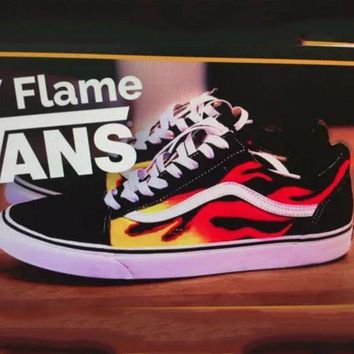 CREYONS Vans Classics Flame Brothers Canvas Old Skool Flats Sneakers Sport Shoes G-FEU-SY