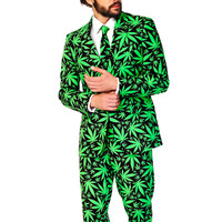 Reefer Madness Weed Leaf Dress Suit