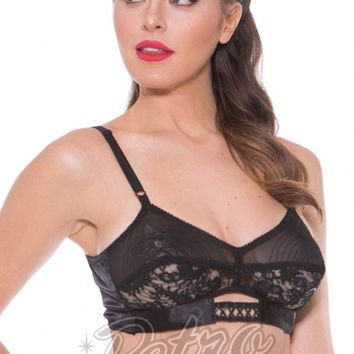 Bedroom Stories Lace and Trim Bra in Black