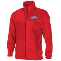 Columbia Mississippi Rebels Flanker Full Zip Fleece Jacket - Cardinal