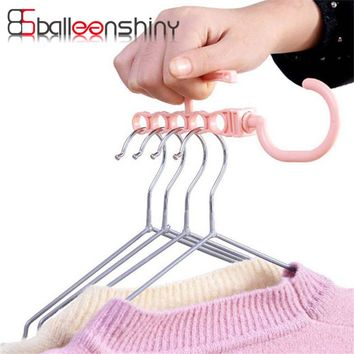 BalleenShiny Plastic Clothes Hook Rack Holder For Outdoor Garment Home Wardrobe Tie/Belts/Scarves Organizer Storage Hanger Rack