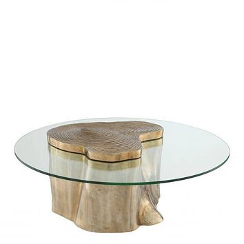 Gold Wood Stump Coffee Table | Eichholtz Urban