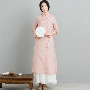 Chinese Style Embroidery Dress