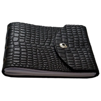 Leather Croco Embossed Personal Journal/ Diary