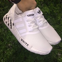 Best Online Sale OFF WHITE x Adidas Consortium NMD 3M White Boost Sport Running Shoes Classic Casual Shoes Sneakers