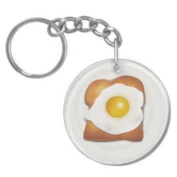 Breakfast on the Go Circle (double-sided) Keychain