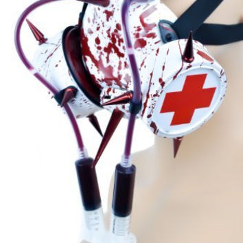 Bloody Syringe Bio Hazard Cosplay Respirator Gas Mask Medical Sign