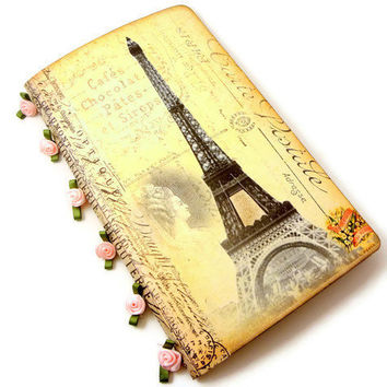 Paris Journal, Eiffel Tower Notebook, Vintage Paris Journal, Cahier Moleskine, Paris Travel Journal, Graduation Gift, Teacher's Gift