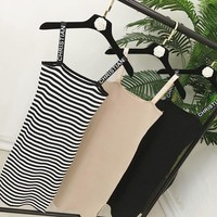 Women Summer Shoulder Straps Dress Knitting Letters Straps Sexy Woman Casual Dresses Vestidos